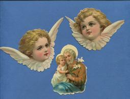 Vente Immédiate Prix Fixe Bel Ensemble Chromos Decoupis Thème Angelot Religion En Très Bel état - Angels
