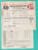 DDX799 -- CULDESSARTS -  Facture Et Reçu TP Pellens COUVIN 1913 - Entetes Laiterie Des Propriétaires Réunis , A. Piérot - 1912 Pellens
