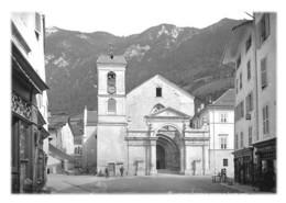 MOUTIERS - Cathédrale Tarentaise, Façade Ouest (reproduction) - Moutiers