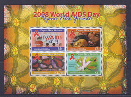 Papua New Guinea 2008 World AIDS Day Sheetlet MNH - Papua-Neuguinea
