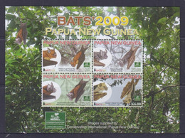 Papua New Guinea 2009 Bats Sheetlet MNH - Papua-Neuguinea