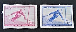 CHAMPIONNAT DU MONDE DE SKI A PORTILLO 1966 - NEUFS ** - YT 232/33 - MI 645/46 - Chile