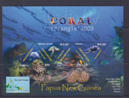 Papua New Guinea 2009 Coral Triangle Sheetlet MNH - Papua New Guinea