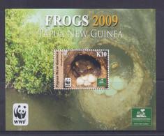 Papua New Guinea 2009 Frogs, WWF S/S MNH - Papua-Neuguinea
