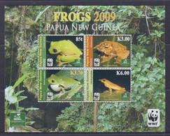 Papua New Guinea 2009 Frogs, WWF Sheetlet MNH - Papua-Neuguinea