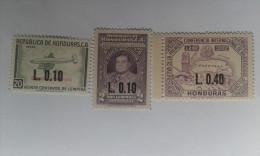 HONDURAS Overprints 1965-1967 3 Stamp Mint** MNH - Honduras