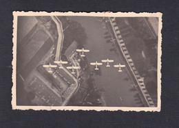 Photo Originale Vue Aerienne La Marne Environs De Meaux  Formation En Vol Avion Du Groupe De Bombardement  GB I / 21 - Aviazione