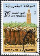 Maroc Poste Obl Yv: 925 Mi:1000 Arts Populaires Danseurs (cachet Rond) - Maroc (1956-...)