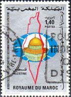 Maroc Poste Obl Yv: 934 Mi:1009 Palestine Jérusalem Dôme Du Rocher (Beau Cachet Rond) - Maroc (1956-...)