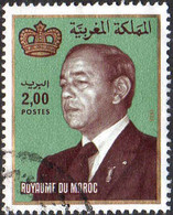 Maroc Poste Obl Yv: 938 Mi:1013 Hassan II & Couronne Gd Format (cachet Rond) - Maroc (1956-...)