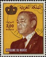 Maroc Poste Obl Yv: 939 Mi:1014 Hassan II & Couronne Gd Format (TB Cachet Rond) - Maroc (1956-...)