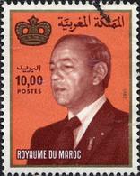 Maroc Poste Obl Yv: 941 Mi:1016 Hassan II & Couronne Gd Format - Maroc (1956-...)