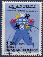 Maroc Poste Obl Yv: 957 Mi:1037 Journée De L'enfance Ronde D'enfants (Beau Cachet Rond) - Maroc (1956-...)