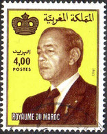 Maroc Poste Obl Yv: 965 Mi:1045 Hassan II & Couronne Gd Format (cachet Rond) - Maroc (1956-...)