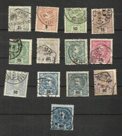 Portugal N°124 à 134, 137, 138 Cote 11.25 Euros - 1892-1898 : D.Carlos I