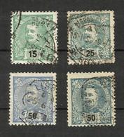 Portugal N°128, 130, 132, 133 Cote 4.30 Euros - 1892-1898 : D.Carlos I