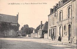¤¤  -   LA SUZE    -   La Poste Et Boulevard Henri Wille      -   ¤¤ - La Suze Sur Sarthe