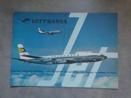 1950 1960 Aviation Lufthansa Brochure Pub Boeing Jet D-ABOD Hôtesse Air Steward - Werbung