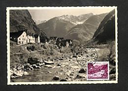SUISSE - HELVETIA - Carte Maximum 1954 - BIGNASCO - PFO PATRIA - Cartoline Maximum