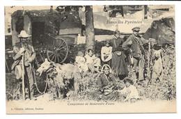 D 65  Environs De TARBES  Campement De Montreurs D'Ours  Dans Les Pyrenees - Tarbes
