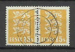 ESTLAND Estonia 1934 O AMBLA Michel 81 As Pair - Estland