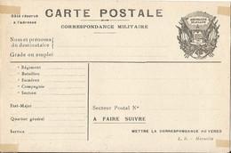 CARTE  FRANCHISE  MILITAIRE  /  Carte  Non écrite  /  Drapeaux - FM-Karten (Militärpost)