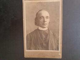 RARE GRANDE CDV 16/10CM 1901. PORTRAIT D UN PRÊTRE.  PHOTOGRAPHE VOORBENS. ALBUQUERQUE. NOUVEAU MEXIQUE.  ÉTATS-UNIS - Alte (vor 1900)
