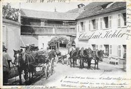 Suisse Valais (Wallis) - Brigue (Brig) - Bérisal Cheval Calèche Diligence 1902-08-21 Animée TB - VS Valais
