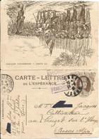 CARTE-LETTRE DE L ' ESPÉRANCE  JOFFRE  / 13e Chasseur à Cheval  VIENNE ( Isère ) / Envoi En 1916 Au LAUZET Sur L' UBAYE - FM-Karten (Militärpost)