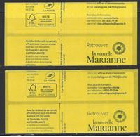 DATE 03.06.20  Carnet Sagem Marianne L'engagée + Carnet  LV  ERREUR TEXTE COUVERTURE - Usage Courant
