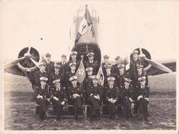 Photo Originale Armee De L'Air Escadrille F25 Du GB I / 21 Groupe Bombardement Avion Bloch MB 210 N°55 Aviateurs 1937 - Aviazione