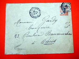 Cochinchine - 22/02/1910 - Entier Postal Pour Paris - Briefe U. Dokumente