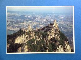 CARTOLINA FORMATO GRANDE VIAGGIATA SAN MARINO VEDUTA DEL MONTE TITANO - San Marino