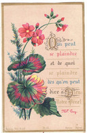 CHROMO QUI PEUT SE PLAINDRE ET DE QUOI SE PLAINDRE Mgr GAY SOUVENIR IMAGE PIEUSE HOLY CARD SANTINI PRENTJE - Andachtsbilder