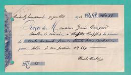 DDX806 --  MARCQ Lez ECAUSSINNES -  Reçu TP Pellens 1914 Vers MAFFLES Via CHIEVRES - Signé Charles Marbais - 1912 Pellens