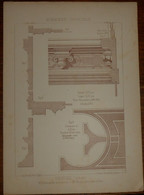 Cheminée De Salle De Chasse Menuiserie - Ebénisterie. M. Boileau, Architecte à Paris. M. Moisy, Menuisier à Paris. 1887. - Planches & Plans Techniques