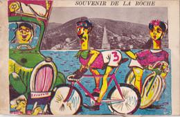 Carte Montage Souvenir De La Roche Circulée En 1955 - La-Roche-en-Ardenne