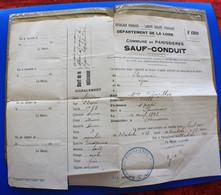 WWI--1914-PANISSIERES Loire à LYON HÔPITAL MilitariaGuerre1914-18-☛SAUF-CONDUIT-☛ALLER VOIR SON MARI BLESSÉ - 1914-18