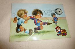 BELLE ILLUSTRATION ..SIGNE GABRIEL ....CLUB DE BARCELONE...BARCA ...CACHET BELGIQUE 1972 - Voetbal