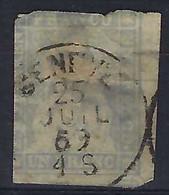 SUISSE 1859:  Le ZNr.27D BDF, Superbe Obl. CAD Genève Du 25 Juil.59, 2ème Choix, Très Forte Cote - Gebruikt