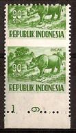Indonesië / Indonesia 1956 Nr 178 Misdruk, Misprint Postfris/MNH Dieren, Animals, Animaux - Indonesien
