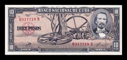 Cuba 10 Pesos Carlos Manuel De Céspedes 1960 Pick 88c Sign Che SC UNC - Cuba