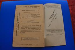 AUBENAS-Drôme WW2-1939- MilitariaVICTIME De Guerre1939-45-☛ANCIENS COMBATTANTS CARNET BONS MEDICAUX-Perte Vision œil D - Documenten