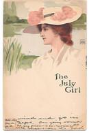 Illustrator - FRK - Calendar Girl, Fille De Calendrier,Kalender Mädchen, Art Nouveau, Jugendstil, The July Girl - Illustratori & Fotografie