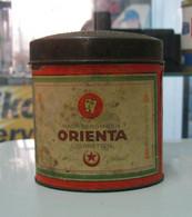 AC - HAUSS BERGMANN HB ORIENTA CIGARETTEN CIGARETTE - TOBACCO EMPTY VINTAGE TIN BOX - Tabaksdozen (leeg)
