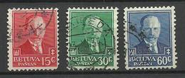 LITAUEN Lithuania 1934 Michel 391 - 393 President A. Smetona O - Lithuania