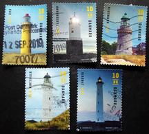 Denmark 2019   Lighthouse  Minr.1974-78   (O) (lot G 169) - Danimarca