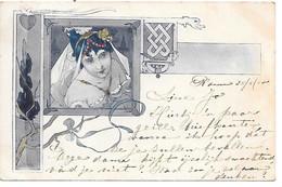 Illustrator - Signed - Art Nouveau, Jugendstil, Oriental Lady, Dame Orientale, Orientalische Dame / 1905? - Illustratori & Fotografie