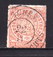 GERMANY-NORD DEUTSCHE POSTBEZIRK, 1866 ,  Used Stamp 1/2 Groschen  , Michel 3 , Scannr. 16041 - Norddeutscher Postbezirk