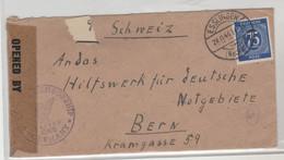TIMBRE D ALLEMAGNE 1946 Nr 934 C CENSUREE SUR LETTRE DE SCHWEIZ POUR WURTENBERG US-ZONE - Allemagne
